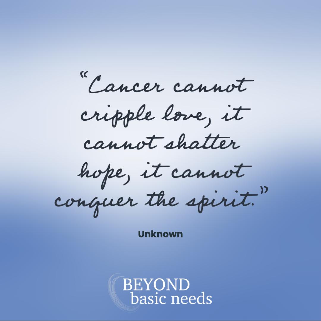 cancer cannot cripple love
